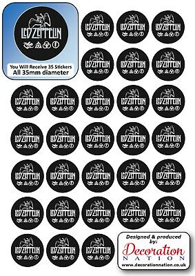 Led Zeppelin STICKERS Decoration Fun Kids Adults Music English Rock Band Heavy