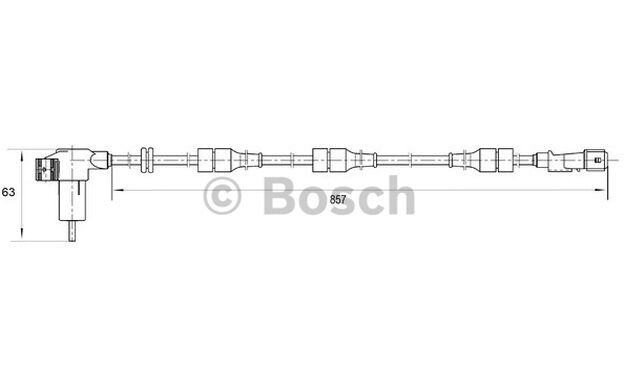 BOSCH Sensor ABS PEUGEOT 306 CITROEN XSARA ZX 0 265 006 203