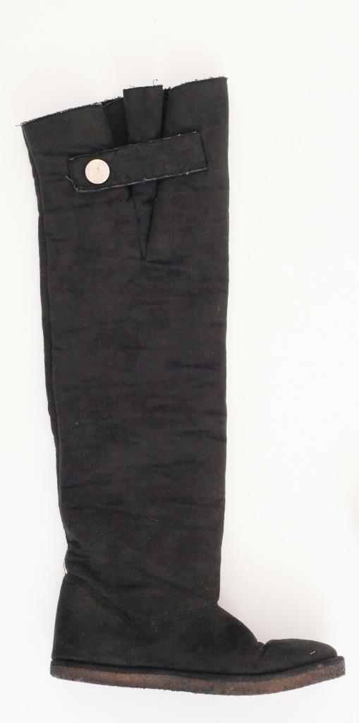 STELLA MCCARTNEY Womens Black Suede Comfy Fur-Lined Over-the-Knee Tall Boot 8-38
