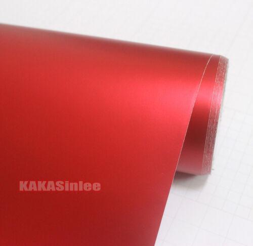 Bubble Free Car Satin Matte Metallic Chrome Vinyl Wrap Sticker Decal Stretch AM