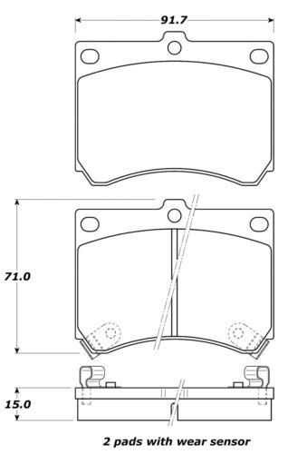 Disc Brake Pad Set-Street Brake Pads Front STOPTECH 308.04730
