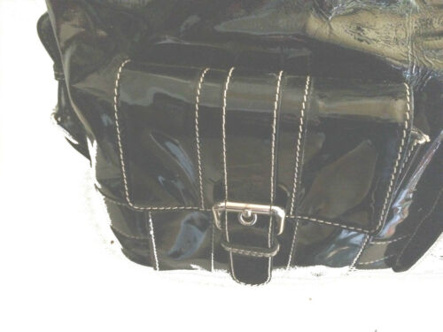 Zwarte lakschoudertas Shopper Mcm Back Bag Sack nwY4xqHS