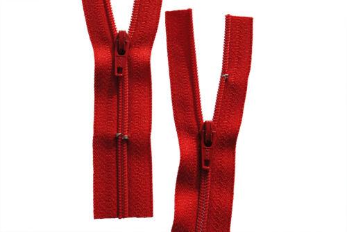 Reißverschluss für Bettwäsche 1 Weg rot schließbare Länge 30-200 cm