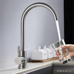 Modern Kitchen Mixer Sink Taps Basin Brass Swivel Single Lever Water