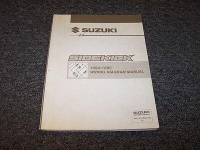 1994-1995 Suzuki Sidekick SUV Electrical Wiring Diagram ...