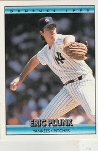 FREE-SHIPPING-MINT-1992-Donruss-554-Eric-Plunk-New-York-Yankees-Baseball-Card