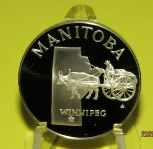 Manitoba-Province-Canada-Silver-Proof-Medal-Pick-your-Province