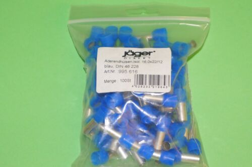 Aderendhülse Aderendhülsen isoliert 16mm² blau 12mm 100 Stück 995.616