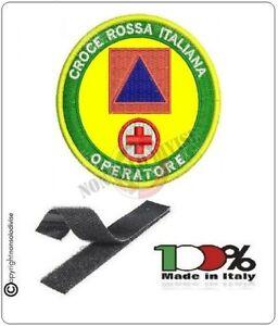Patch-Toppa-Ricamata-con-Velcro-CROCE-ROSSA-ITALIANA-OPERATORE-OPEM-Protezione