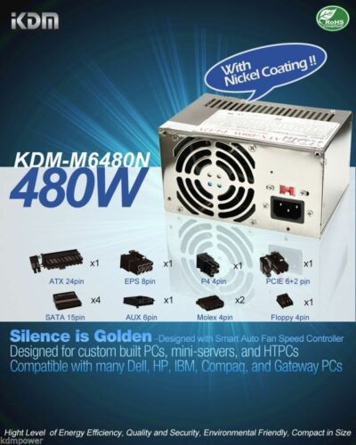 NEW 480W FOR Compaq Presario CQ5000 CQ511OF Power Supply REPLACE 50N