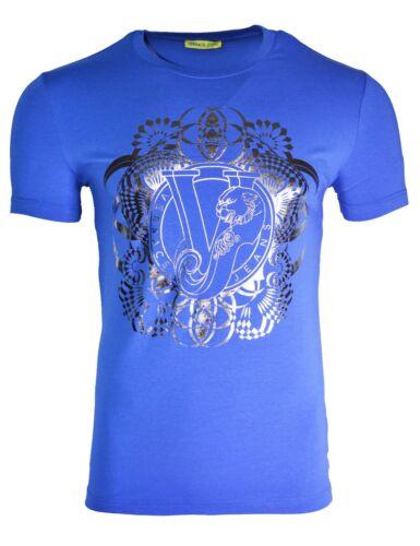 VERSACE JEANS VJ imprimé Tigre T-shirt à manches longues noir et feuille d/'or TOP