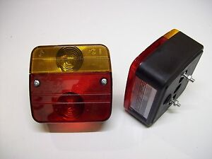 One-Pair-Trailer-Lighting-Board-Caravan-Four-Function-Lights-amp-mounting-bolts