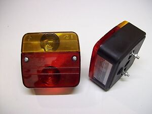 One-Pair-Trailer-Lighting-Board-Caravan-Four-Function-Lights-mounting-bolts