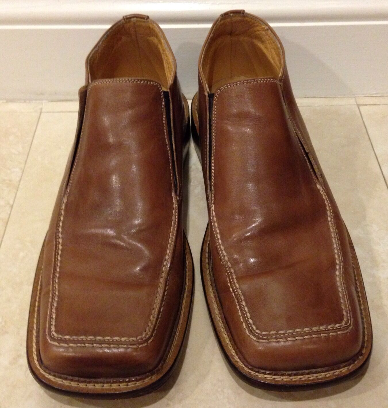 Maurizio Men's Brown Leather Loafers 45 12