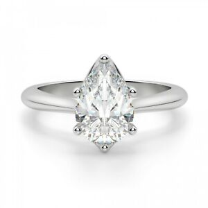 Jewelry & Watches Well-Educated 1.50 Ct Pear Diamond Wedding Party Bridal Ring Band Set 14k White Gold Size 5