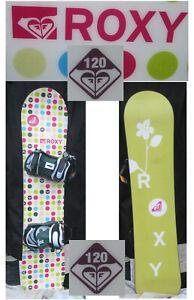 Snowboard-Roxy-120-CM-Polka-Dot-Girls-w-Bindings-in-San-Diego-white