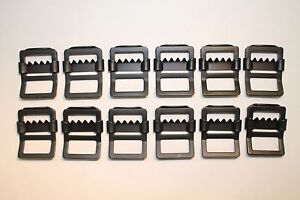 "Military Web Strap Tongueless Buckle, 1"", Mil-Spec, Black. 12 ea, Military Jeep"