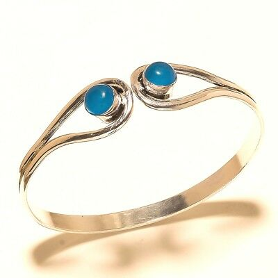 Cute Silver Plated Chalcedony Cuff Bangel Handmade Jewelry Jewellery & Watches Costume Jewellery
