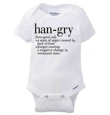 Hangry Definition Funny Hungry Angry Adorable Newborn Romper Bodysuit For Babies