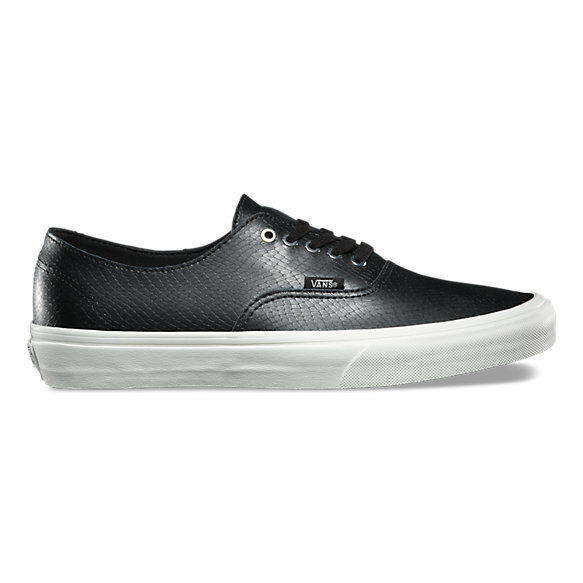 59ad6c0a3974 VANS Authentic Decon Leather Snake Black blanc Skate Shoes Size 11 for sale  online