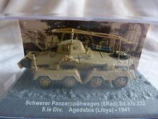 Tank char blindé Altaya - 1/72 - Schwerer panzerspähwagen Agedabia Libya 1941