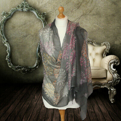 BNWT ladies fine wool and silk black scarf CASHMERE black shawl PREMIUM quality