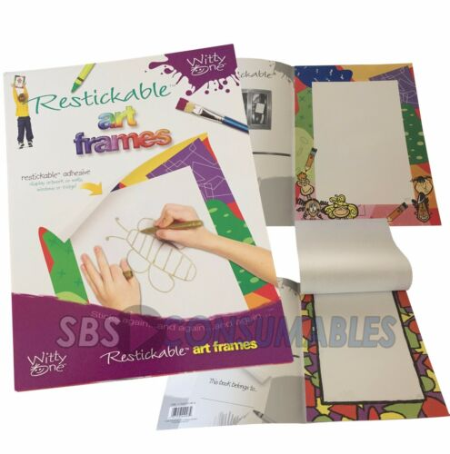Children/'s drawing pads Witty One Restickable Art Frames Display kid/'s artwork