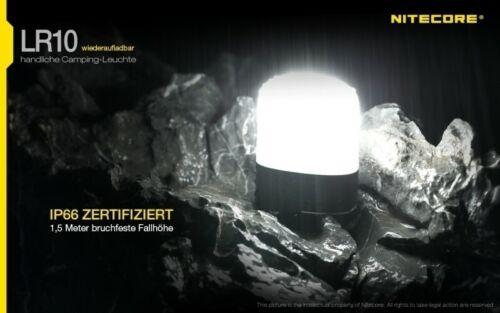 6 modes Nitecore lr10-Camping Lanterne Lampe Camping 250 lumens zeltlampe