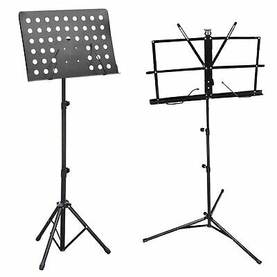 MUSIC SHEET STAND HEAVY DUTY FOLDABLE ORCHESTRAL HOLDER ADJUSTABLE TRIPOD BASE