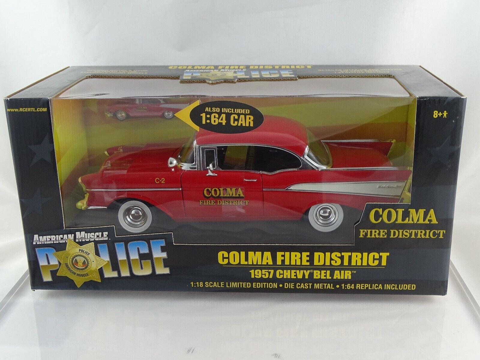 varios tamaños 1 18 ertl American American American muscle 33044 1957 Chevy Bel Air colma Fire + 1 64 Coche Limited  Venta en línea precio bajo descuento