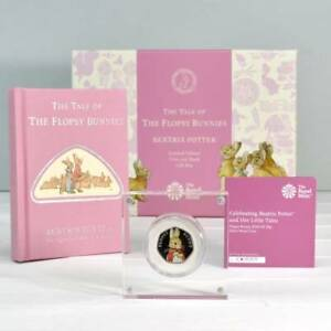 Flopsy-Bunny-Royal-Mint-Silver-Proof-Coin-amp-Book-Set-Baby-Child-Christening-Xmas