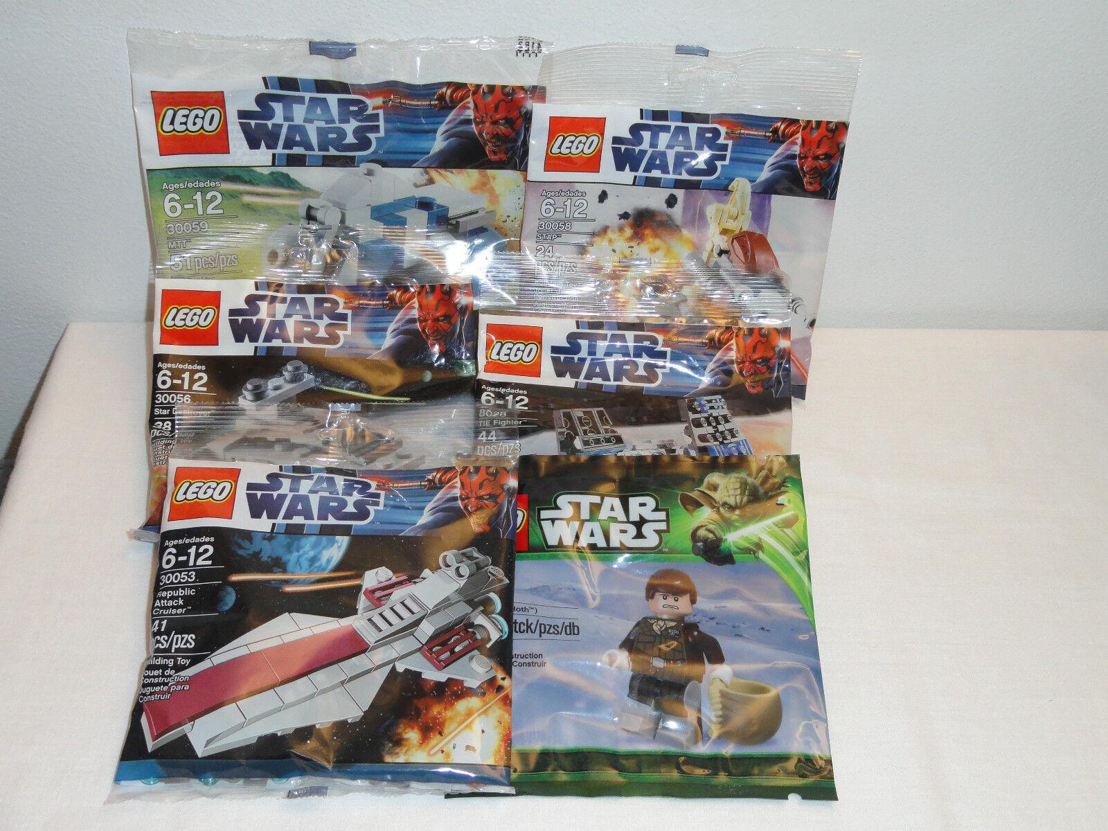 nuovo LEGO estrella  guerras Lot X6 Tie combatiente estrella Destroyer Han Solo 30056 30059 8028  negozio online