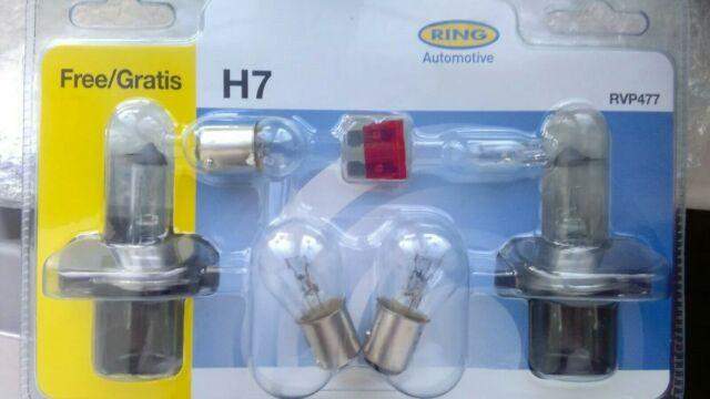 Ring Automotive H7 Bulbs RVP477 Vauxhall Corsa 2015 SE + 1 Free