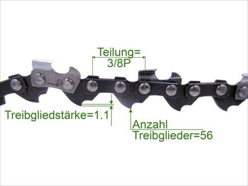 3 unidades Profi C sierra cadena 3//8p 1.1 mm 56 TG low perfil 40 cm cadena de sustitución