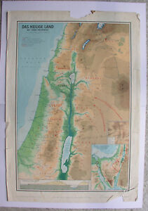 Cartina Fisica Zone Londra 1 6.Cartina Da Parete Sacro Terra Con Sinai Palestina Bibelkunde
