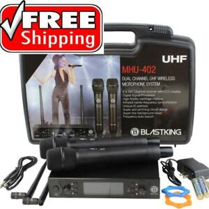 BLASTKING MHU-402 Dual Handheld UHF DSP Wireless Microphone System Canada Preview