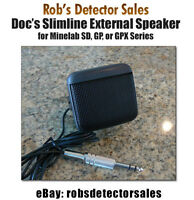 Slimline External Speaker For Minelab Sd, Gp, And Gpx Series - Gold Nuggets