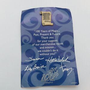 Disney Wdw Cast Member Walt Disney Brass Scroll Quote It Was All