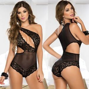e0f7c057a Image is loading 2018-Hot-Sexy-Lingerie-Lace-Floral-Transparent-Sleepwear-