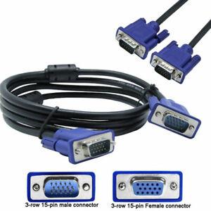 Cavo-VGA-da-1-5-3m-SVGA-Maschio-Schermato-per-Prolunga-Video-Cable-Monitor-TV-PC