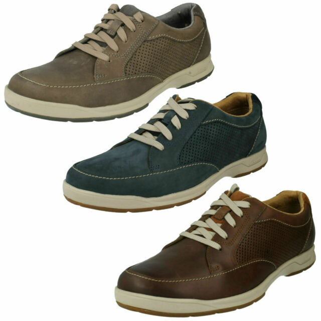 a0a8b1e16c7691 MENS CLARKS LEATHER LACE UP LIGHTWEIGHT CASUAL TRAINERS SHOES STAFFORD PARK  5