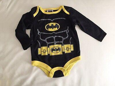 Licensed Batman Muscle Long Sleeve Cotton Baby Boys Bodysuit 3m.6m.9m.12m18m.24m