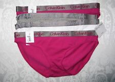 Lot 4 Calvin Klein Womens Radiant Logo Bikinis Panties Underwear Medium NWT