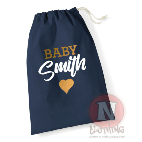 Baby shower personalized customized keep sake Cotton Drawstring Bag personal