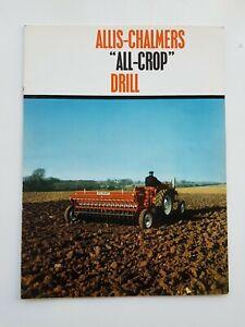 Allis Chalmers All Crop Perceuse Sales Brochure-afficher Le Titre D'origine