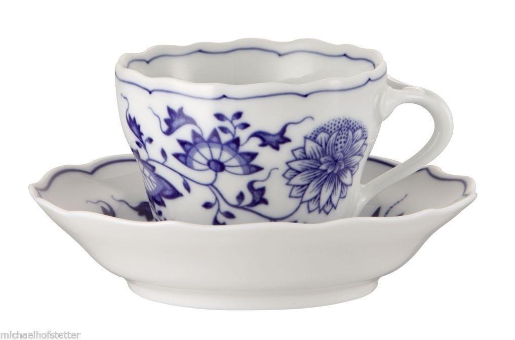 6x Hutschenreuther plato azul Zwiebelmuster café taza y un plato Hutschenreuther nuevos 2tlg. SP 0b5077