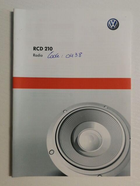 VW Radio RCD 210 04.10 Dutch //1038