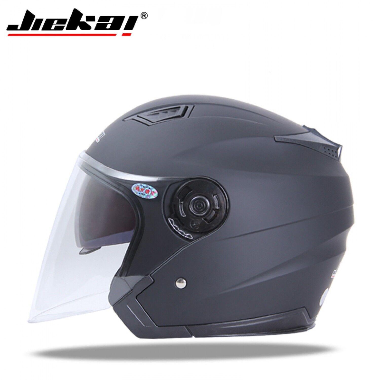 Motorcycle Helmet Jiekai Full Open Face Dual Visor Sun Shield Vintage Modular