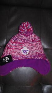 Toronto-Maple-Leafs-Girls-Baby-Child-New-Era-Hockey-Hat-Cap-Tuque-New-Winter
