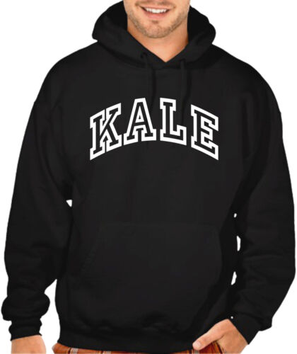 New Men/'s KALE Black Hoodie Health Fitness Athletic Workout Gym Lift Sweater